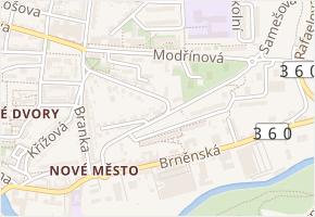 Sárovská v obci Třebíč - mapa ulice