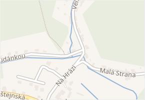 Solopisky v obci Třebotov - mapa části obce