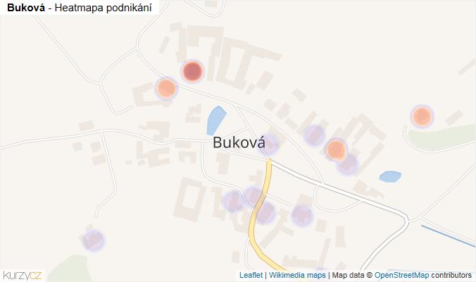 Mapa Buková - Firmy v části obce.
