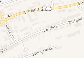 28. října v obci Turnov - mapa ulice