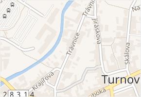 Trávnice v obci Turnov - mapa ulice