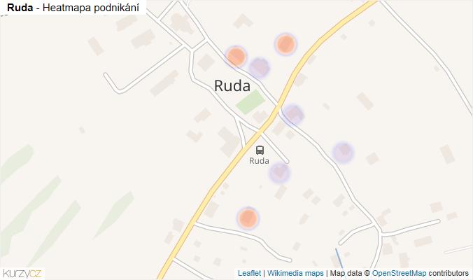 Mapa Ruda - Firmy v části obce.