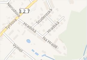 Hradská v obci Týnec nad Labem - mapa ulice