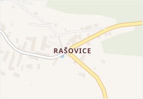 Rašovice v obci Úštěk - mapa části obce