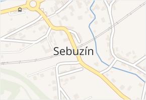 Sebuzín v obci Ústí nad Labem - mapa části obce
