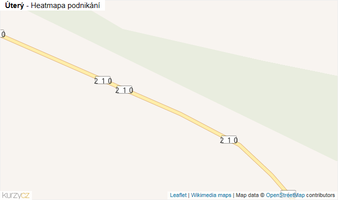 Mapa Úterý - Firmy v obci.