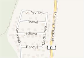 Modřínová v obci Úvaly - mapa ulice