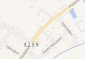 Palackého v obci Velim - mapa ulice