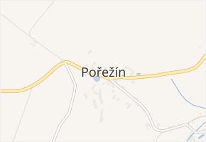 Pořežín v obci Velká Losenice - mapa části obce