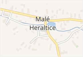 Malé Heraltice v obci Velké Heraltice - mapa části obce