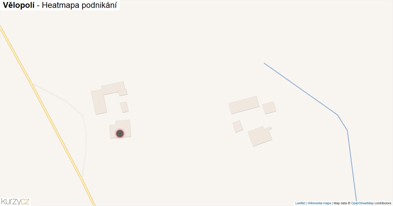 Vělopolí - mapa podnikání
