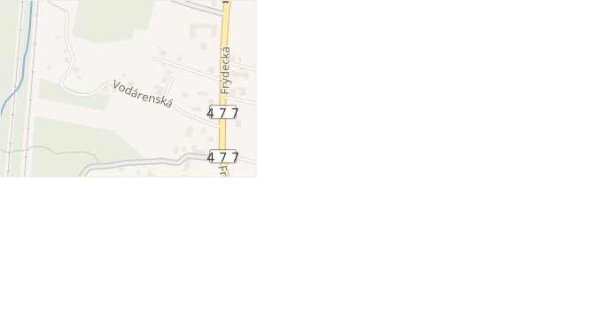 Vodárenská v obci Vratimov - mapa ulice