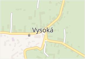 Vysoká v obci Vysoká - mapa části obce