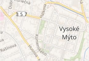 Vrchlického v obci Vysoké Mýto - mapa ulice