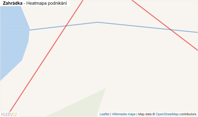 Mapa Zahrádka - Firmy v obci.