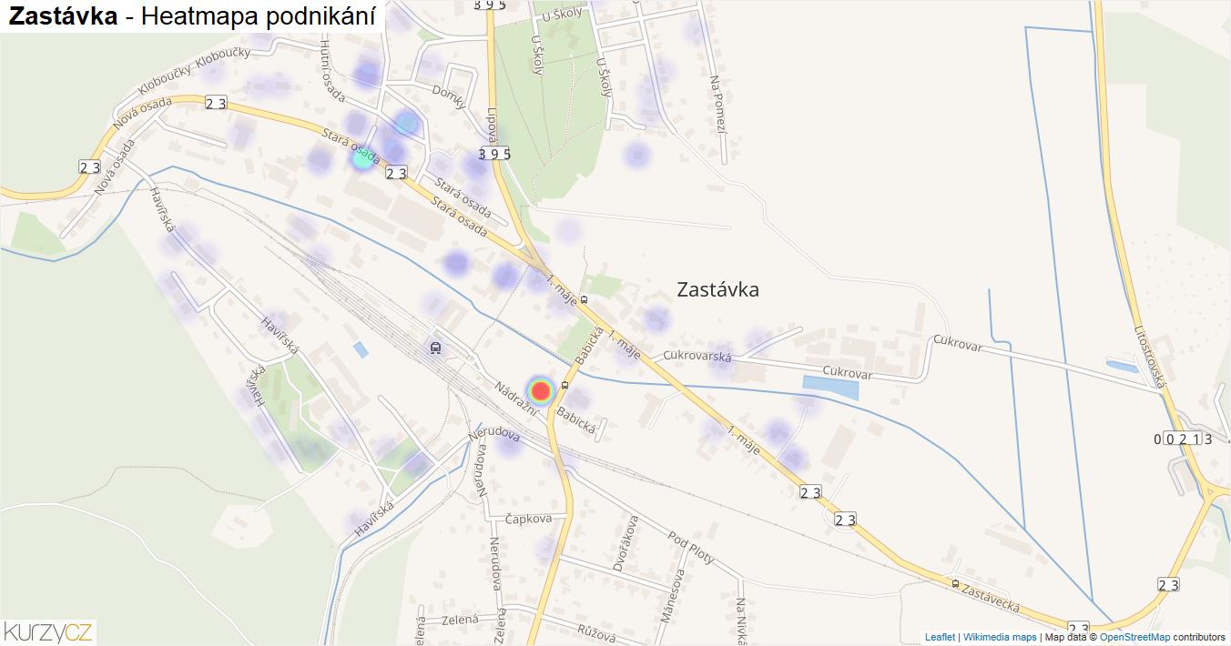 Zastávka - mapa podnikání