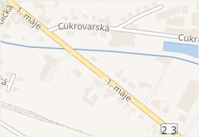 1. máje v obci Zastávka - mapa ulice