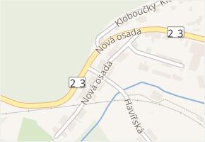 Nová osada v obci Zastávka - mapa ulice