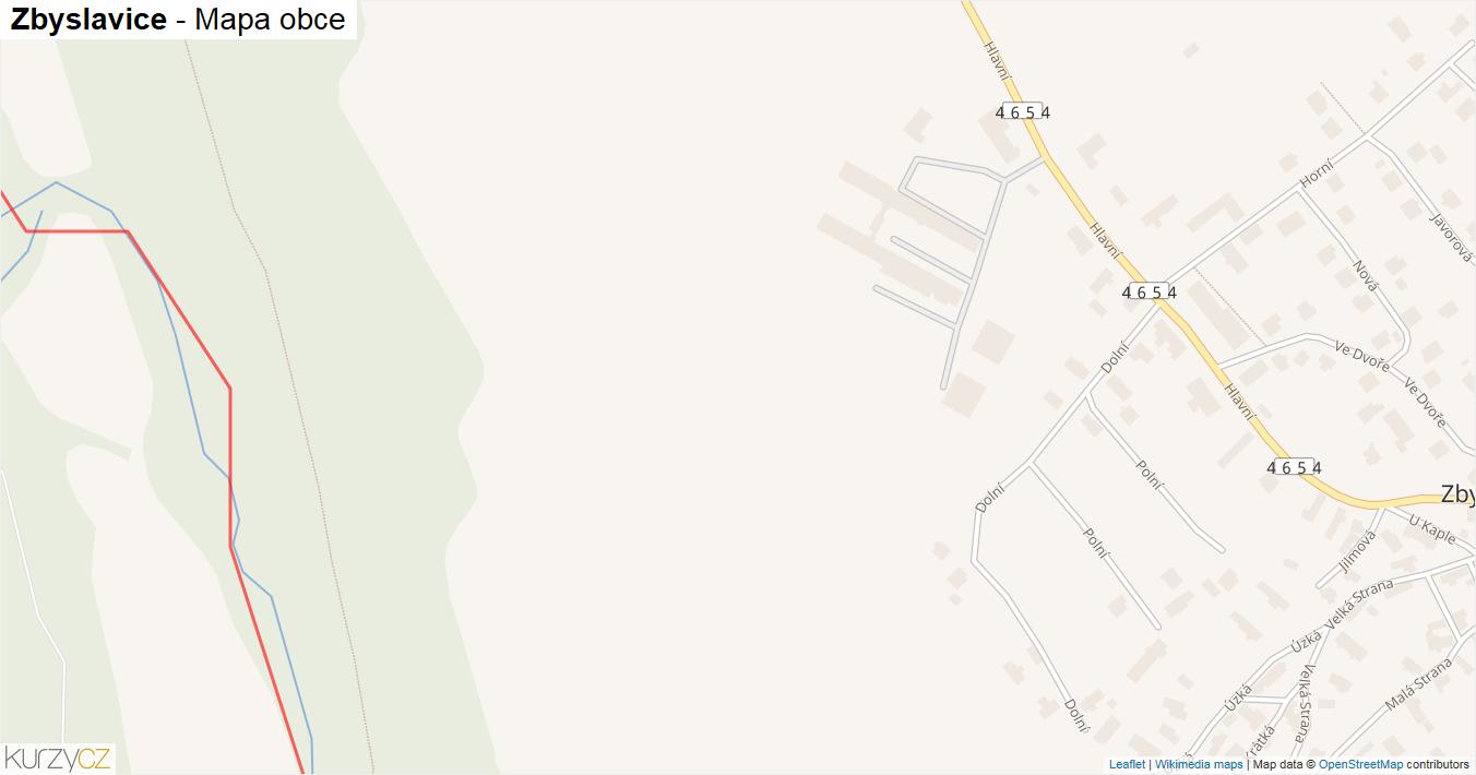 Zbyslavice - mapa obce