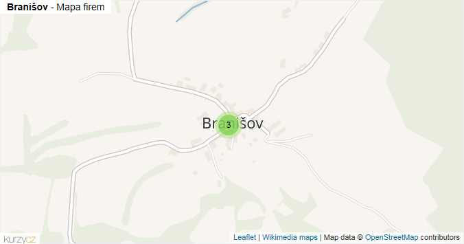 Mapa Branišov - Firmy v části obce.