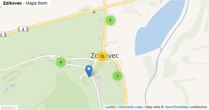 Mapa Zdíkovec - Firmy v části obce.