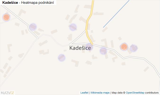 Mapa Kadešice - Firmy v části obce.