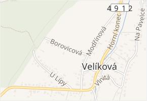 Borovicová v obci Zlín - mapa ulice