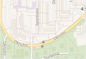 Dětská v obci Zlín - mapa ulice