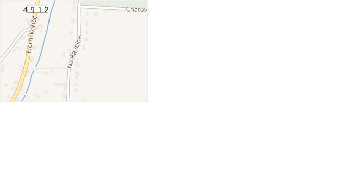 Na Pavelce v obci Zlín - mapa ulice