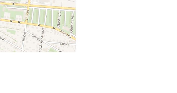 Obeciny II v obci Zlín - mapa ulice
