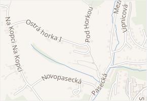 Ostrá horka II v obci Zlín - mapa ulice