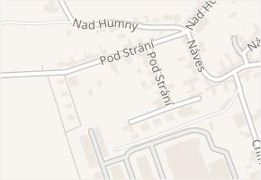Pod Strání v obci Zlín - mapa ulice