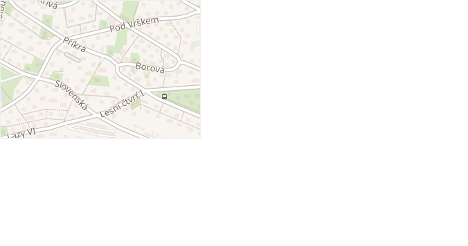 Pod Vrškem v obci Zlín - mapa ulice