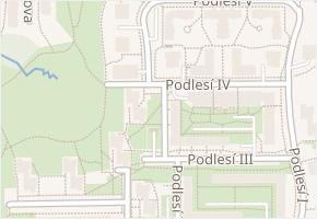 Podlesí IV v obci Zlín - mapa ulice