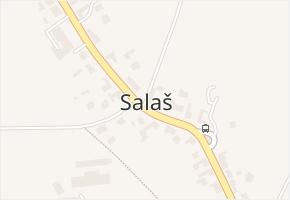 Salaš v obci Zlín - mapa části obce