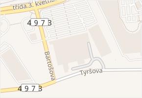 třída 3. května v obci Zlín - mapa ulice