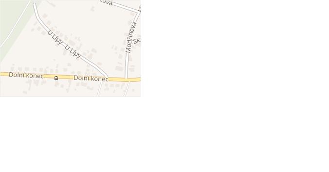 U Lípy v obci Zlín - mapa ulice