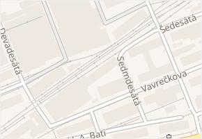 Vavrečkova v obci Zlín - mapa ulice