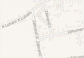 Zábrančí I v obci Zlín - mapa ulice