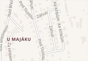 Záhutí v obci Zlín - mapa ulice