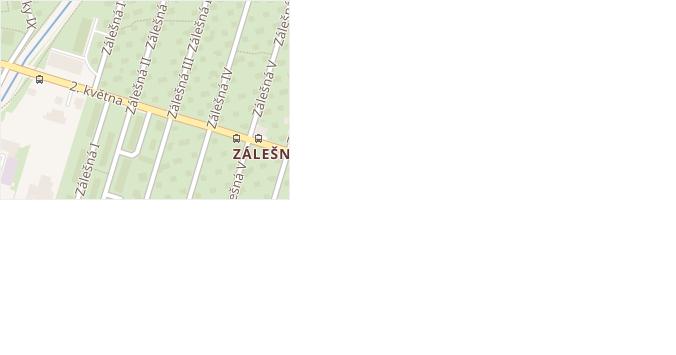 Zálešná II v obci Zlín - mapa ulice
