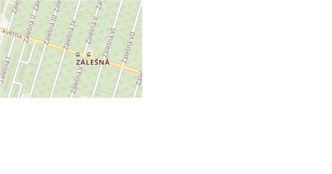 Zálešná IV v obci Zlín - mapa ulice