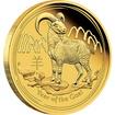 Zlatá mince 1/4 oz (trojské unce) ROK KOZY Austrálie 2015