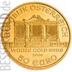 Zlatá mince 1/2 oz (trojské unce) WIENER PHILHARMONIKER Rakousko