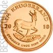 Zlatá mince 1/10 oz (trojské unce) KRUGERRAND Jižní Afrika