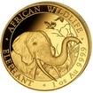 Zlatá mince 1 oz (trojská unce) SLON AFRICKÝ Německo 2018