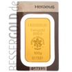 Zlatý slitek 100g HERAEUS (Německo)