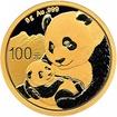 Zlatá mince Panda 8 g