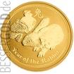 Zlatá mince Rok Zajíce 1/2 oz