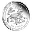 Stříbrná mince Rok Psa 1/2 oz